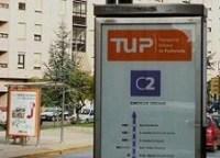 Una parada del TUP en la avenida del Castillo. Ponferrada, 3 julio 2008. Foto: Enrique L. Manzano.