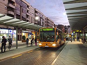 El servicio del Transporte Público de Ponferrada no ha alcanzado la demanda prevista y es deficitario. Ponferrada, 13 jul. 2009.
