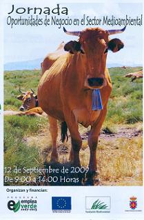 Cartel. Jornada Oportunidades de Negocio en el Sector Medioambiental. Ponferrada, 12 sept. 2009. Autor: Emprende en Verde.