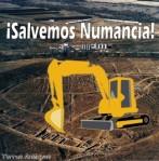 Cartel. 'Salvemos Numancia'. 2009. Fuente: terraeantiqvae.blogia.com.