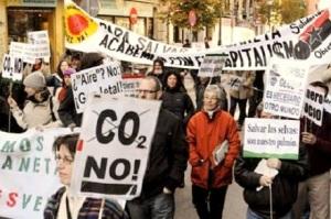 Manifestación en el Día Global contra el Cambio Climático. 29 nov. 2008.