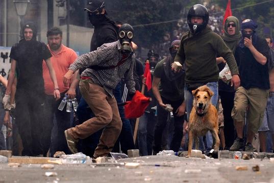 Protestas en Greciia. Atenas, mayo 2010. Elpais.com.