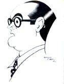 Caricatura de José Luis Sampro en su juventud. Fuente: Clubcultura.com