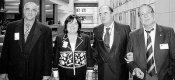 Victorino Alonso, Ana Luisa Durán, Antonio Masip (europarlamentario PSOE) y Luis María García (de izquierda a derecha). Bruselas, 17 abril 209. Tsobudelaciana.blogspot.com.