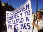 Manifestación del 15M en Ponferrada. 15 mayo 2012. Foto Enrique L. Manzano.