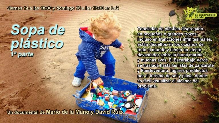 Anuncio del programa 'Sopa de plástico 1ª Parte' de 'El Escarabajo Verde. Junio 2013. Rtve.es.
