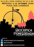 Cartel. BiciCrítica Ponferrada. 25 sept. 2014. Fuente: ecobierzo.org.