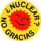 Logo. Campaña contra la energía nuclear. '¿ Nuclear. No gracias'. Fuente: unecologistaenelbierzo.wordpress.com. Autor: ecologistasenaccion.org.