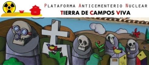 Cabecera de la página web de la 'Plataforma Antinuclear Tierra de Campos Viva'. 2010.