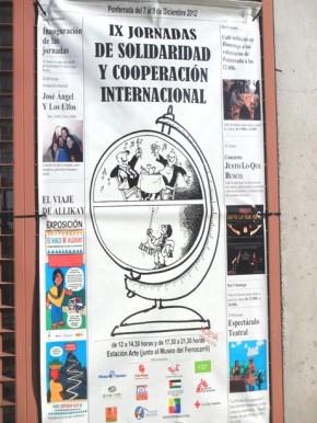 IX Jornadas de Cooperación y Solidaridad Internacional. Ponfe, 7 - 9 dic. 2012. Fuente: unecologistaenelbierzo.wordpress.com.  Foto: Enrique L. Manzano.