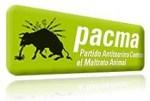 Logo. PACMA. Partido Antitaurino Contra el Maltrato Animal. 2009. Fuente: unecologistaenelbierzo.wordpress.com.