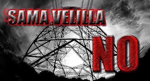 Logo. 'Sama-Velilla No'. 2009. Fuente: unecologistaenelbierzo.