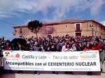 Manifiestación contra el cementerio nuclear en Castilla y León. Melgar de Arriba, 3 abril 2010. Foto: PTCV.