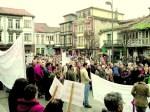 Manifestación contra la minería a cielo abierto de Victorino Alonso en Tineo (Asturias). 8 dic. 2008.