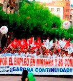 Manifestación por el mantenimiento de Garoña. Miranda de Ebro, 18 junio 2009. Ecodiario.eleconomista.es.