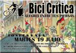 Bici. Cartel. Primera Bici Crítica en Ponferrada, 19 julio 2011. Fuente: unecologistaenelbierzo.wordpress.com.