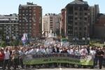 Manifestación contra la incineración en Cementos Cosmos. Ponferrada, 14 mayo 2011. Fuente: ecobierzo.org.