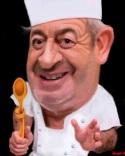 Una caricatura del popular cocinero Karlos Arguiñano. Eljueves.es.