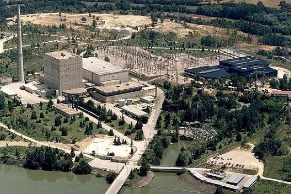 Vista aérea de la central nuclear de Garoña. 2009. Fuente: ondavasca.com.