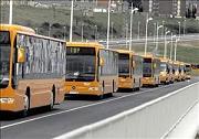 Autobuses del TUP el día de la inauguración del nuevo servicio. Ponferrada, marzo 2007. Fuente: lacronicadeleon.es.