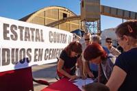 I Encuentro Estatal Contra la Incineración de Residuos en Cementeras. Ponferrada, 11 de octubre 2009. Foto: Enrique L. Manzano.