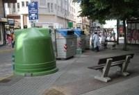 Contenedores de recogida de las basuras en Ponferrada. Foto: Enrique L. Manzano.