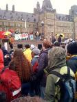 Manifestantes en el 'Día de Acción Global contra el Cambio Climático. Ottawa (Canadá), 24 oct. 2009. Fuente: 350.org.