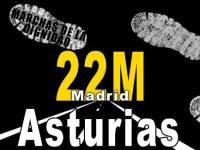 Cartel. Marchas de la Dignidad. Asturias - Madrid.