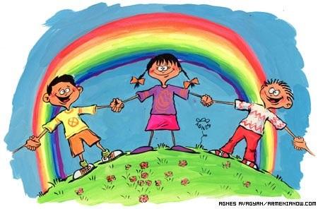 Día Mundial del Niño. 2009. Fuente: armenianow.com. Dibujo: Agnés Avagian.