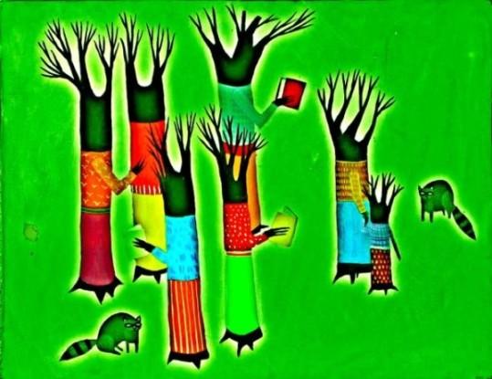 Gente árbol. Fuente: davidhammerstein.com.