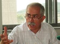 Josep Bacardí, de la Plataforma Antiincineración de Montcada i Reixach (Cataluña). Ponferrada, 10 oct. 2009. Foto: Enrique L. Manzano.