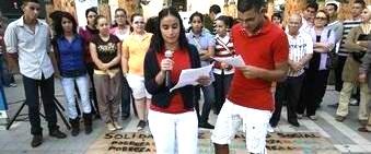 Conmemoración del Día Internacional Contra la Pobreza. Melilla, 18 oct. 2008. Melillahoy.com.