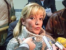 La presidenta de la Diputación y del Partido Popular de León, Isabel Carrasco. 2009.