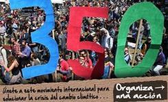Cartel. 'Organiza una acción. 350.org. 24 oct. 2009.