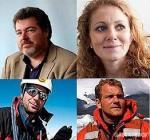 Los cuatro activistas detenidos en Copenhague. 17 dic. 2009. Fuente: unecologistaenelbierzo.wordpress.com.