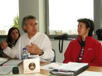 Mabel Riera, Luis Fernández y Carmen Núñez (de izquierda a derecha). Ponferrada, 10 oct. 2009. Foto: Enrique L. Manzano.