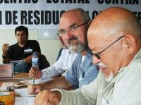 Manuel Gómez, Jose Luis Conejero y Rafel Godoy (de derecha a izquierda). Ponferrada, 10 oct. 2009. Foto: Enrique L. Manzano.