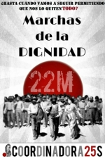 Cartel. 22M. Marchas de la Dignidad. Madrid, 22 marzo 2014.