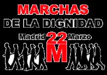 Cartel. Marchas de la Dignidad. Madrid, 22 marzo 2014.