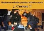 Agentes  infiltrados reducen a uno de los manifestantes. Madrid, 22 marzo 2014. Tercerainformacion.es.