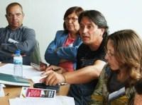 Una intervención de Manuel García, de Toledo Aire Limpio. Ponferrada, 10 oct. 2009. Foto: Enrique L. Manzano.