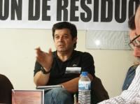 Una intervención de Rafael Godoy, de Sant Feliu de Llobregat (Cataluña). Ponferrada, 10 oct. 2009. Foto: Enrique L. Manzano.