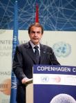 La acertada intervención del presidente español, José Luis Rodríguez Zapatero, no pudo evitar el fracaso de la COP15. Copenhague, dic. 2009.