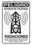 Cartel. Peligro, antenas de telefonía. Radiaciones. Taringa.net.