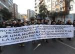 Manifestación contra la instalación indiscriminada de antenas. Ponferrada, 18 febr. 2012. Unecologistaenelbierzo.wordpress.com. Foto: Enrique L. Manzano.