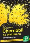 Cartel. Chernóbil, no olvidamos. Nucleares No.26 abril 2014. Ecologistasenaccion.org.
