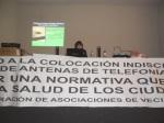Conferencia de Asunción Laso sobre los efectos en la salud humana de las ondas electromagnét. Ponferrada, 18 febr. 2012. Ecologistaenelbierzo. Foto: Enrique L. Manzano.