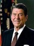 El presidente de los Estados Unidos, Ronald Reagan. 1981. Wikipedia.org.