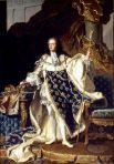 Luis XV retratado por Maurice Quentin de La Tour en 1748. Wikipedia.org.