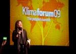 Noami Klein durante su intervención en el Klimaforum09. Copenhague, 7 - 18 dic. 2009. Foto: Mark.